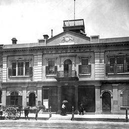 Premises of the 'Register' newspaper office, Adelaide, South Australia