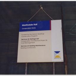 Services SA sign at Martindale Hall