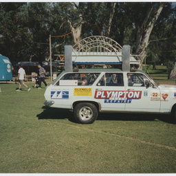 A variety club bash car at Adelaide Clipsal 500