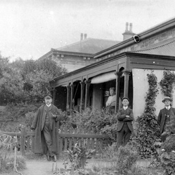 Arthur Searcy outside his home in North Adelaide