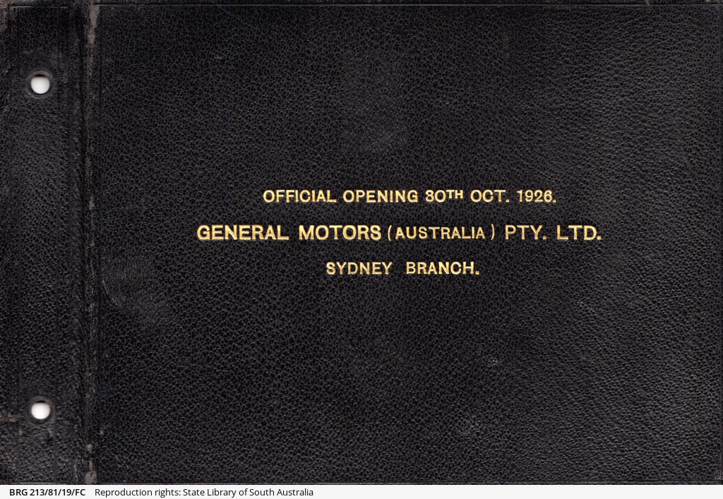 Official opening of General Motors Australia, Sydney branch