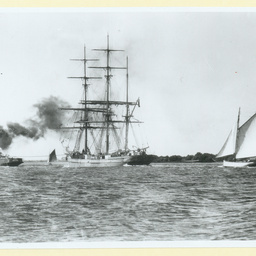 The 'County of Ayr' under tow