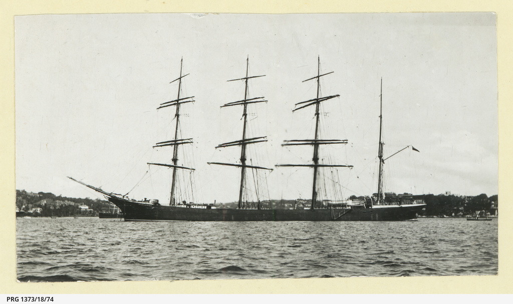 The 'Thistlebank' anchored in an unidentified port
