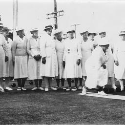 Veteran women bowlers at Hawthorn