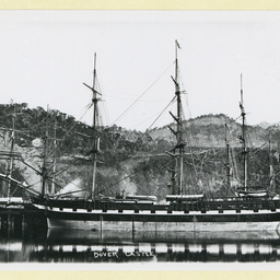 The 'Dover Castle' docked at Port Chalmers, New Zealand