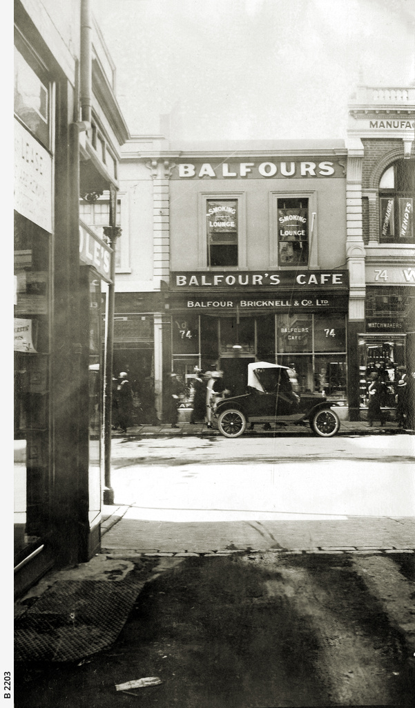 Balfours Cafe, Rundle Street, Adelaide