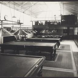 The staff billiard room at the MTT Hackney Depot