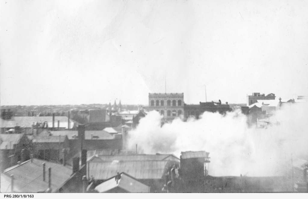 Fire at the premises of A.W. Sandford and Co. Ltd