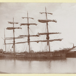 The 'Forteviot' docked in an unidentified port