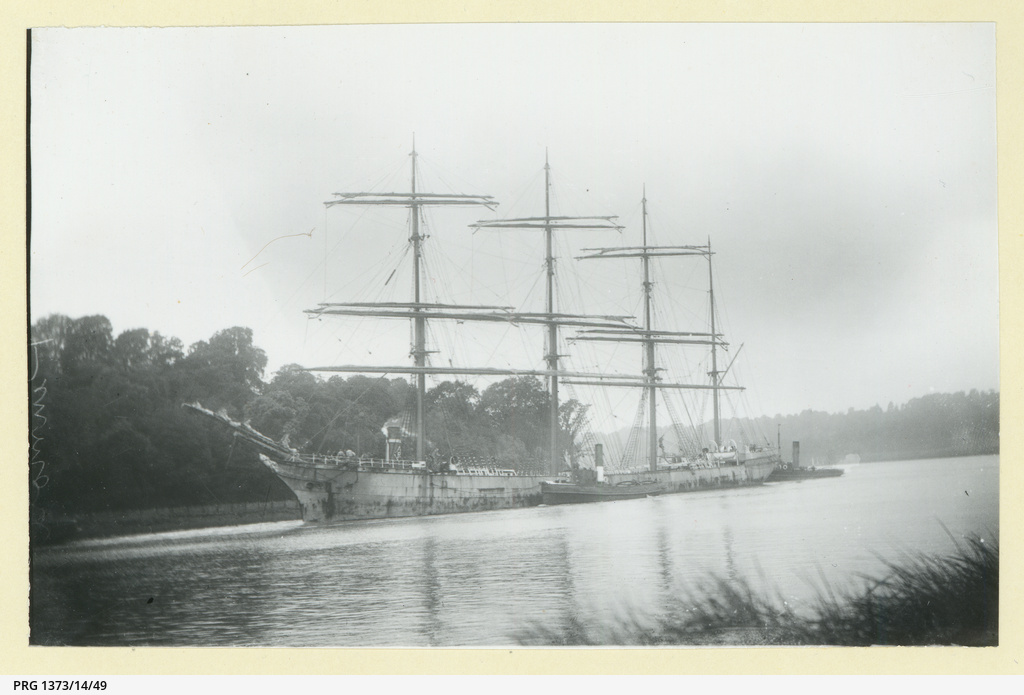 The 'Pinmore' in an unidentified harbour