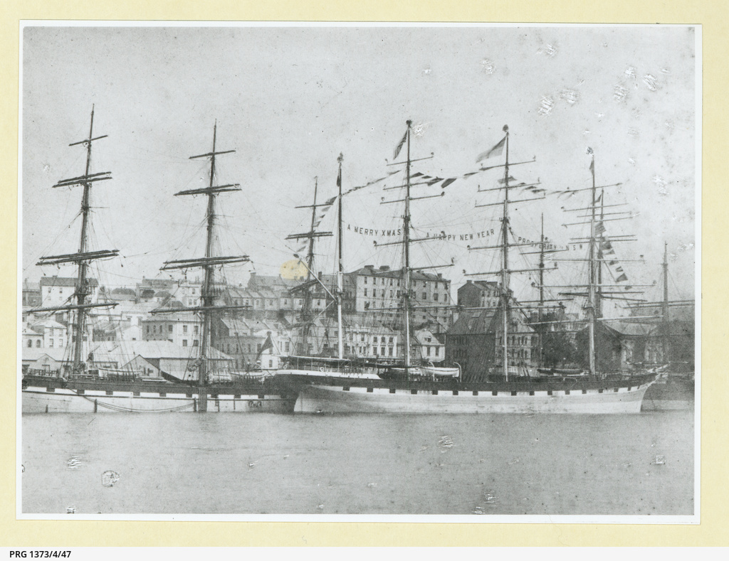 The 'Port Jackson' decorated for Christmas at Sydney