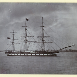 The 'Suffolk' moored at Gravesend, U.K.