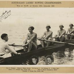 Australian Ladies' Rowing Championships NSW team 1935