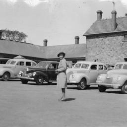 Cars in readiness at Anlaby camp