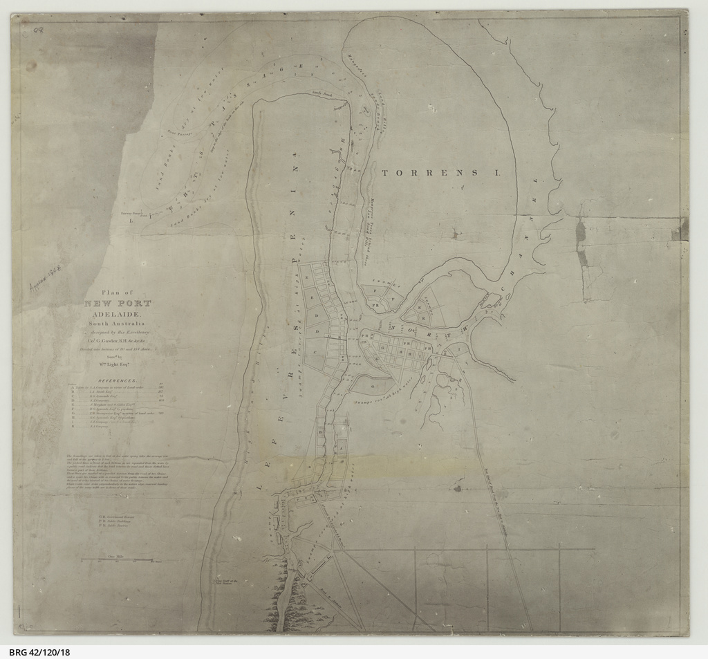 Plan of New Port Adelaide, South Australia designed by Col. G. Gawler [cartographic material]