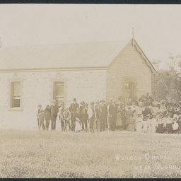 Crowd in front of the Wyacca Church
