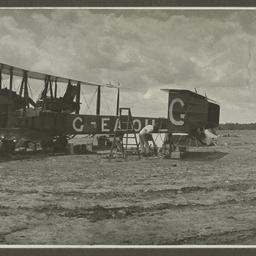 Vickers Vimy undergoing repairs.