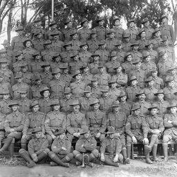 Formal group of South Australian soldiers during World War I