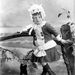 Miss Pauline Searcy when a child