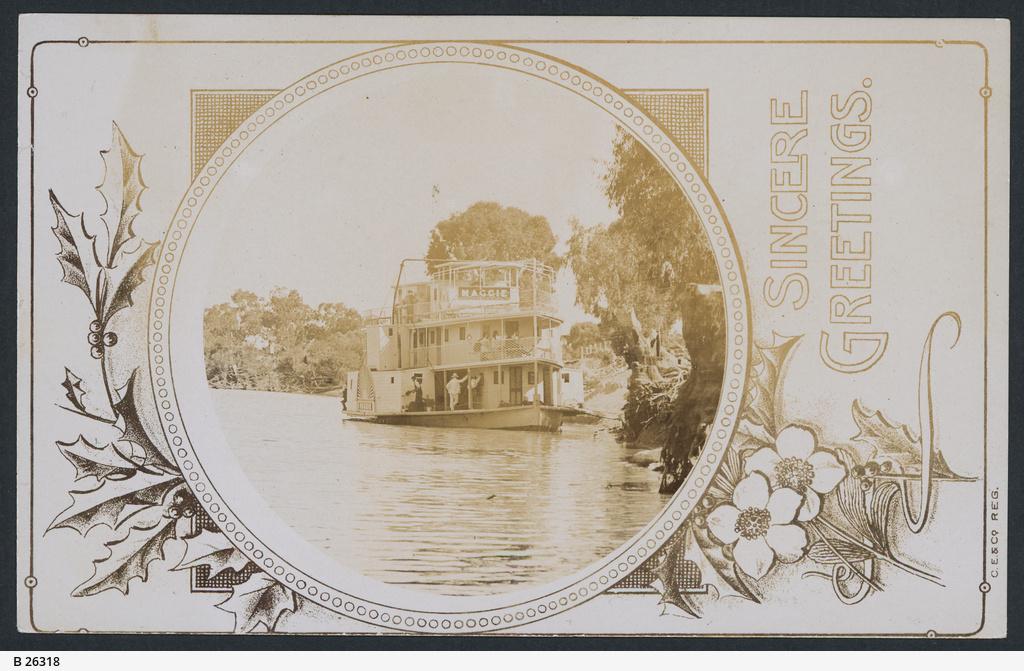 """P. S. Maggie"", River Steamer"